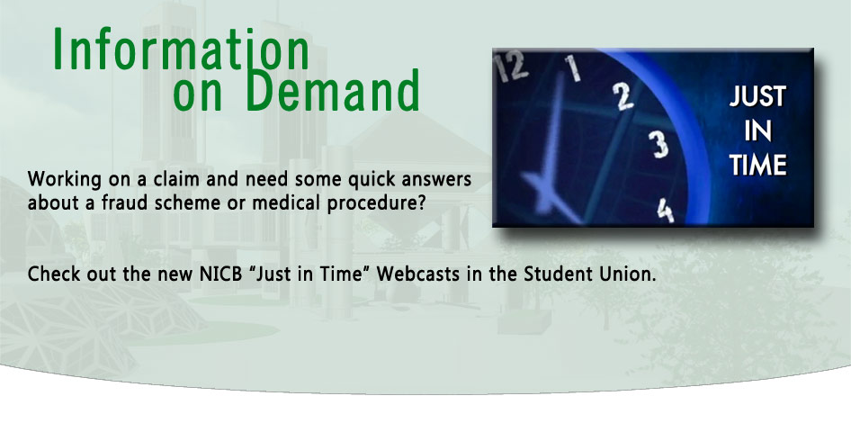 "These webcasts provide concise definitions and descriptions of the title topic in a video format. Their purpose is to supply immediately needed information ""Just In Time"" to the user."